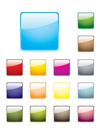 Colourful button set Illustration