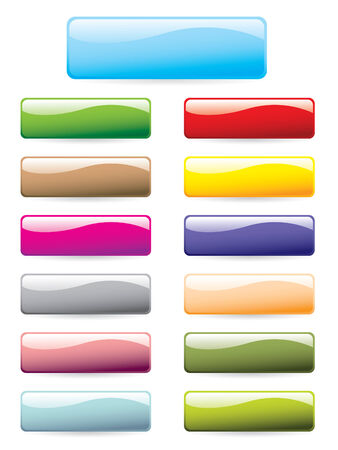 Colourful button set Stock Vector - 3658372