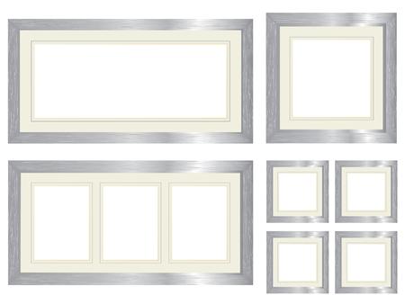 bevel: Set of silver picture frames