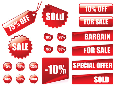 Sale tag collection Vector