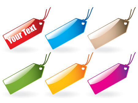 Glossy tag collection Vector