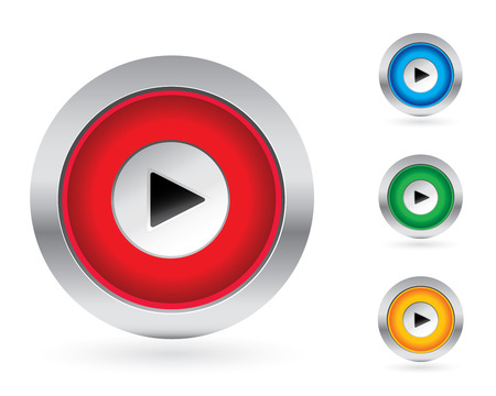 Play push button set Vector
