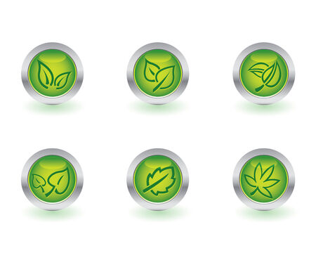 Glossy ecology buttons Vector