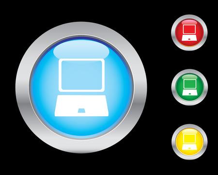 Glossy internet button set Vector