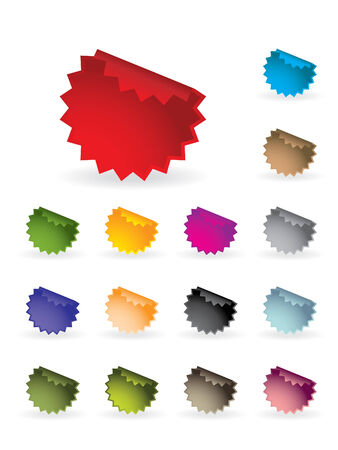 Colourful label set Vector