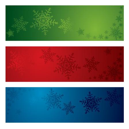 Christmas snowflake banners Stock Vector - 3678200