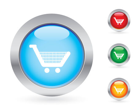 Glossy shopping buttons Stock Vector - 3681274