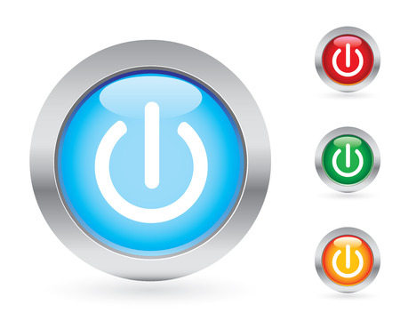 bouton brillant: Power s�rie de boutons
