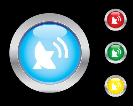 sattelite: Glossy sattelite button set