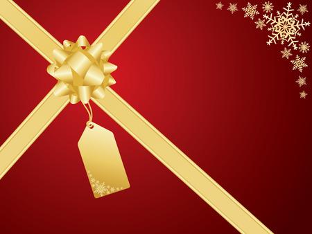 Christmas bow and gift card.