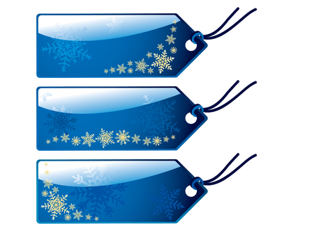 Glossy christmas tags Vector