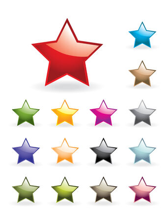 Glossy stars collection Vector