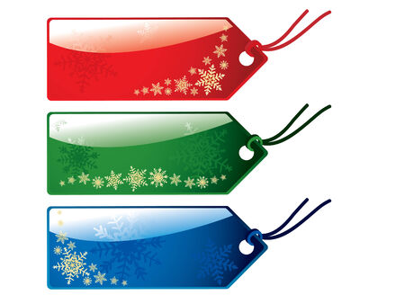 mall signs: Glossy christmas tags Illustration