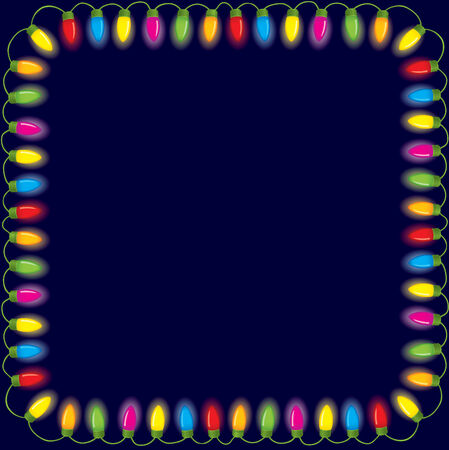 Festive christmas lights Stock Vector - 3733883