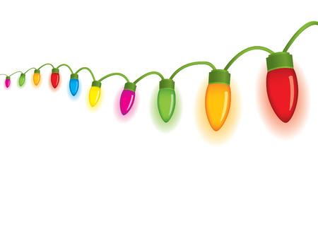 Festive christmas lights Illustration