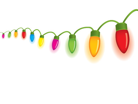 Festive christmas lights Vector