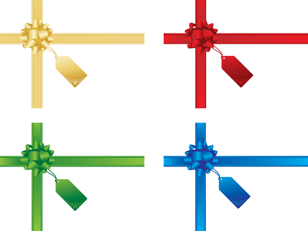 Kerstmis strikken en cadeaubonnen Vector Illustratie