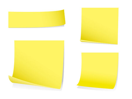 sticky paper: Sticky memo notes with shadows