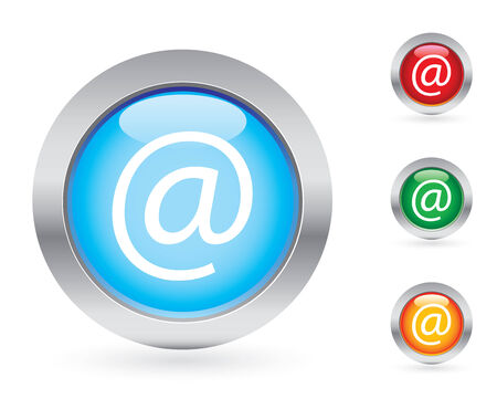 Glossy internet button set Vector