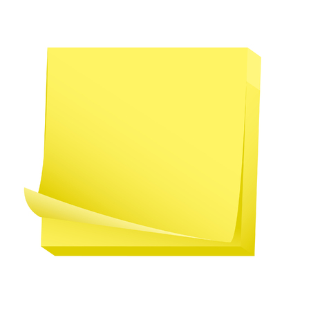 Blank post it note pad Vector