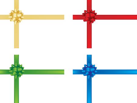 Christmas bows and ribbons Vector