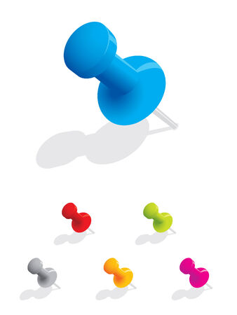 push up: Set of colourful push pins