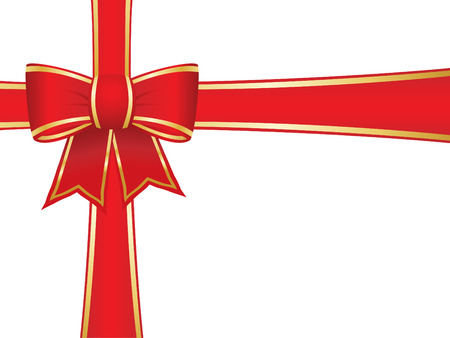 parcels: Christmas bow and ribbons Illustration