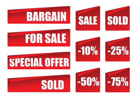 Sale sticker collection Vector