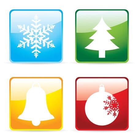 shiney: Glossy christmas icons