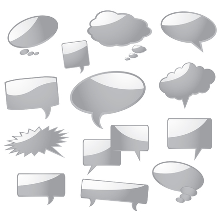 Speech bubbles, ready for your text. Vector