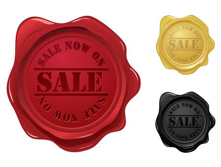 tampon cire: Cachet de cire de la vente tampon Illustration