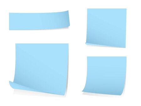 todo: Sticky note du papier blanc avec des ombres