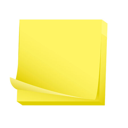 Sticky blank note pad Stock Vector - 3938449