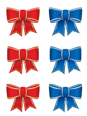 Set of six bows Vector