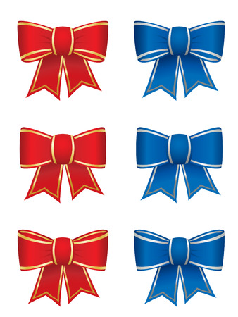Set of six bows Vector