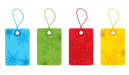 Snowflake gift tags