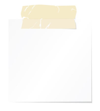 Blank note paper with tape Stock Vector - 3938464