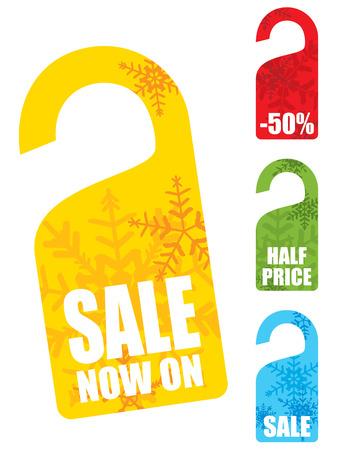 Christmas snowflake sales tag