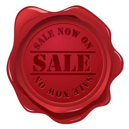 zeehonden: Wax zegel met de verkoop stempel