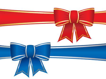 Arcos de regalo Ilustración de vector