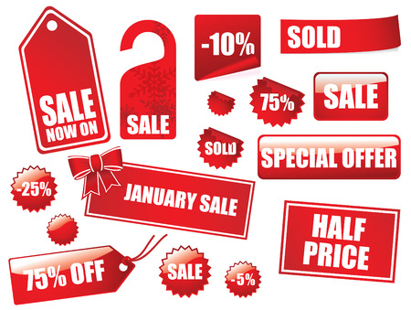 Great sale label and sticker collection Vector