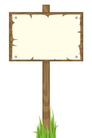 wood sign: Blank wooden sign