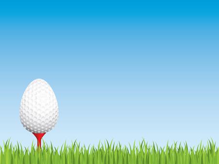 Golfing easter egg Vector