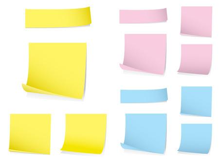 notas adhesivas: Memo notas Vectores