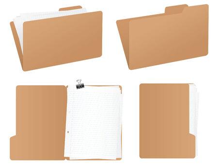 Folder set Stock Vector - 4113663