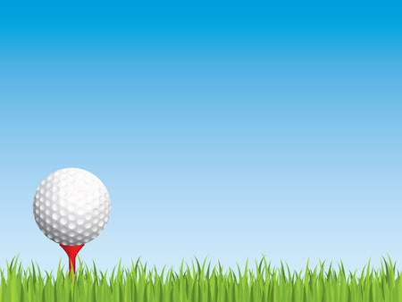 Golf ball with seamless grass Illustration
