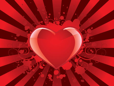 Glossy heart background Vector