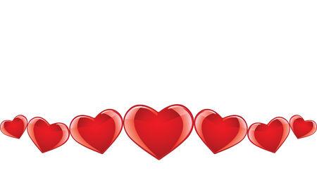 Seamless heart banner Vector
