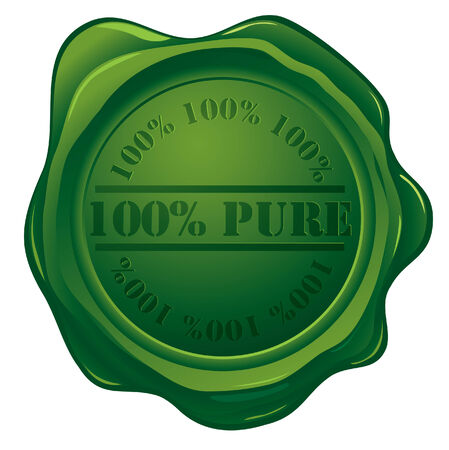 wax glossy: 100% PURE ecology stamp Illustration