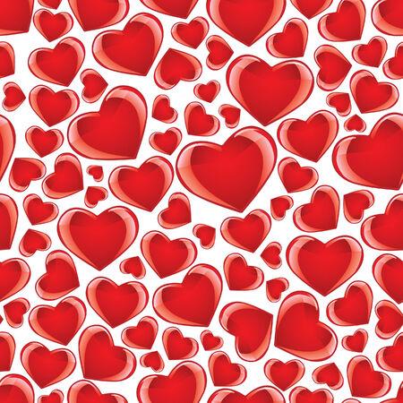 Seamless heart background Stock Vector - 4200329